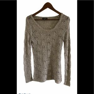 3/$30 Le Chateau loose knit sparkly sweater